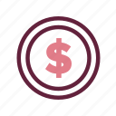accounting, coin, commercial, currency, economics, finance, money icon