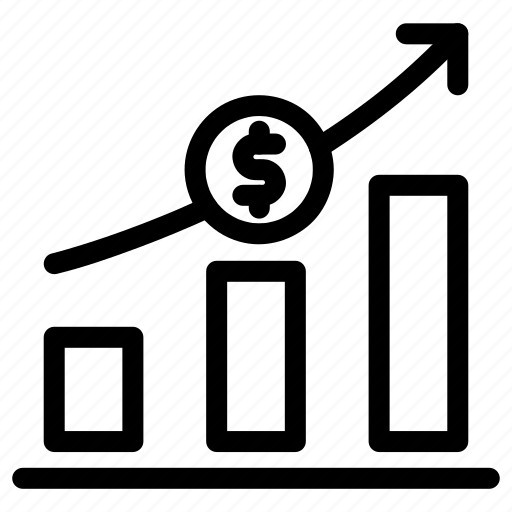 business, chart, graph, growth, increase, market, profit icon