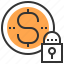 banking, business, currency, economy, finance, investment, security icon