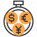 banking, business, currency, economy, finance, investment, money icon