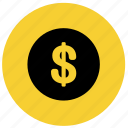 coin, currency, dollar, finance, financial, money icon