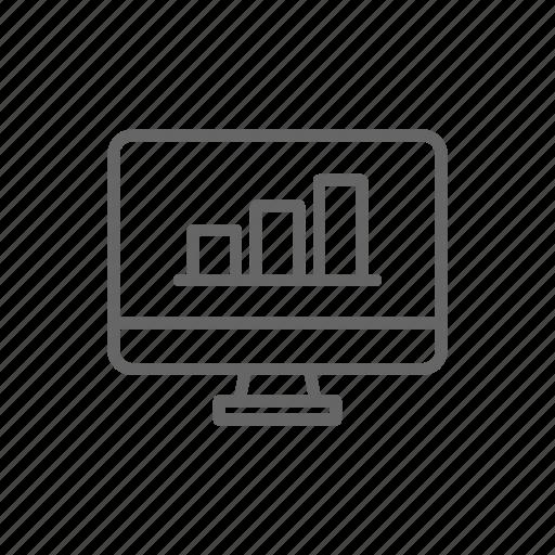 finance, line, money, monitor, pc, schedule, statistics icon