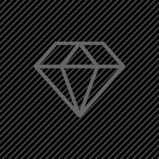 diamond, finance, jewelry, line, money, rich, ruby icon
