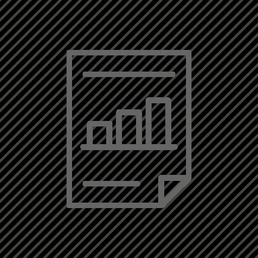 finance, graph, line, money, paper, schedule, statistics icon