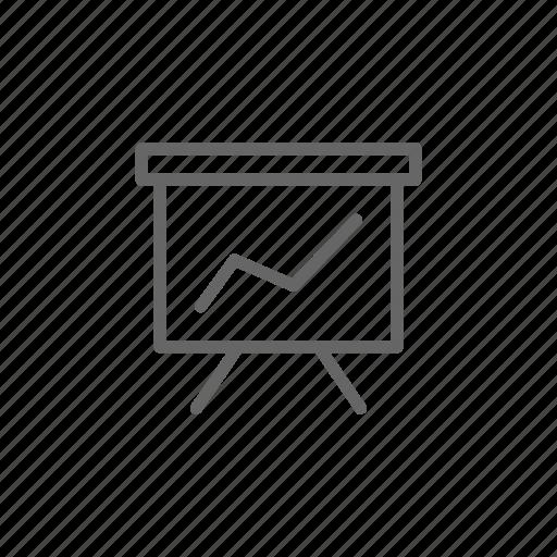 board, dash, diargam, finance, line, money, schedule icon