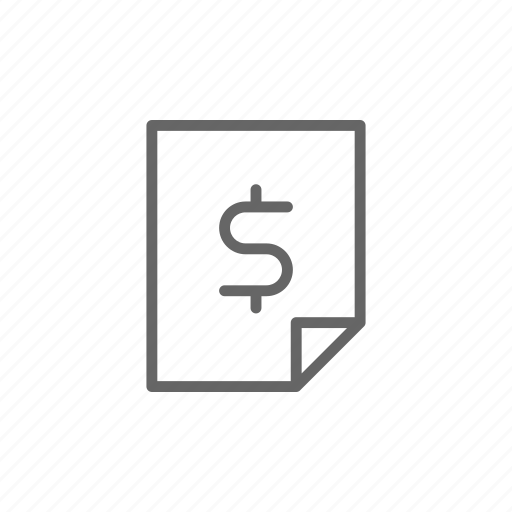 doc, document, dollar, finance, line, money, paper icon