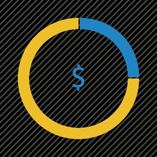 chart, diagram, graph, money icon