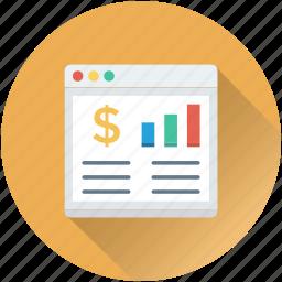 bar graph, graph, online graph, web analytics, webpage icon