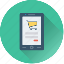 m commerce, mobile, online shop, online store, shopping app icon