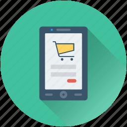 m commerce, mobile, online shop, online store, shopping app icon