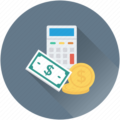 accounting, banknotes, calculator, currency, dollar icon