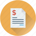 bill, invoice, receipt, tally, voucher icon