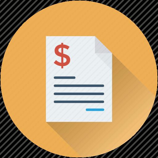 bill, invoice, receipt, tally, voucher icon