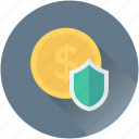 business protection, dollar, money protection, protection shield, shield icon