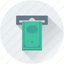 atm, atm withdrawal, banknote, cash withdrawal, transaction icon