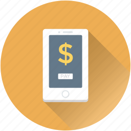 dollar, m commerce, mobile, mobile banking, transaction icon
