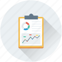 analytics, business report, graph report, line graph, report icon