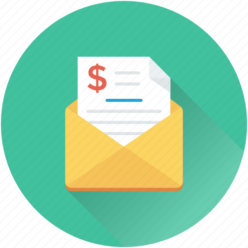 business letter, business report, envelope, report, sales port icon