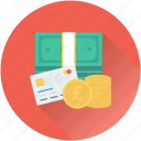 banknote, m commerce, mobile, mobile banking, transaction icon
