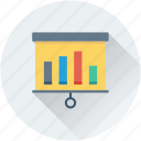 analytics, bar chart, flipchart, infographic, statistics icon