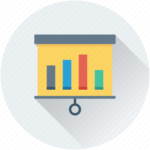analytics, bar chart, flipchart, infographic, statistics icon