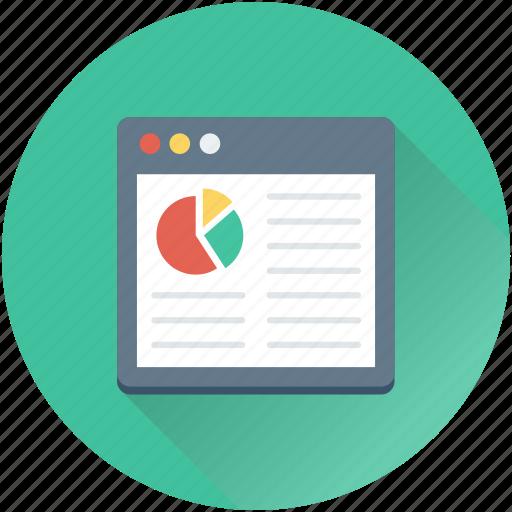 analytic, infographic, online graph, pie chart, web analytics icon