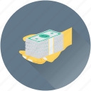 banknotes, cash in hand, currency, hand, payment