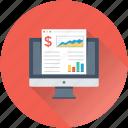 analytics, monitor, report, sales report, stock report