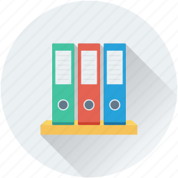 archives, binders, documents, file folders, files rack icon