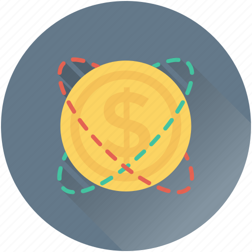 cash, coin, currency, dollar coin, money icon