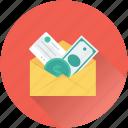 banknotes, currency, envelope, finance, money