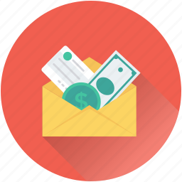 banknotes, currency, envelope, finance, money icon