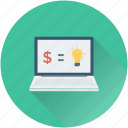 ecommerce, laptop, online business, online earning, online work icon