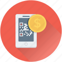 banking, dollar, qr, qr code, shopping icon