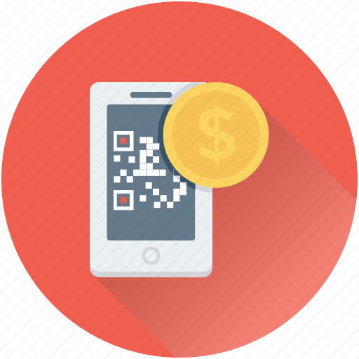 banking, dollar, qr, qr code, shopping icon