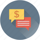 business chat, business talk, chat balloon, chat bubble, comments icon