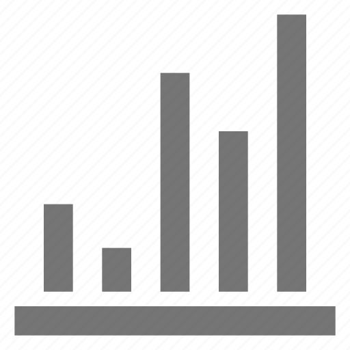 bar, business, chart, line, material icon