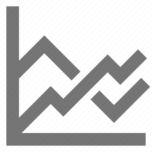 business, chart, line, material, multiple icon