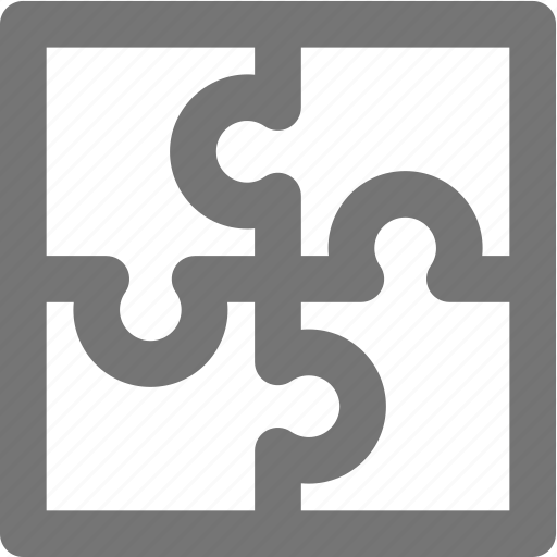 business, line, material, puzzle, solution, strategy icon