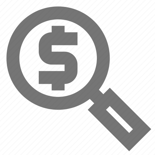 banking, crowdfunding, finance, material, money, search icon