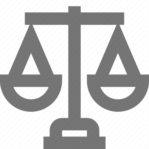 balance, beam scale, court, justice, law, lawyer, material icon