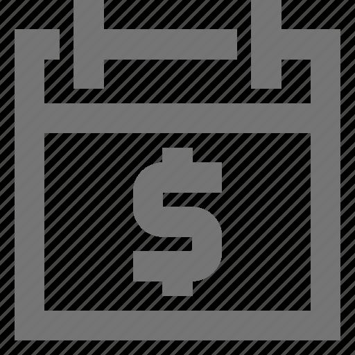 calendar, interest, material, money, planner, planning, profit icon