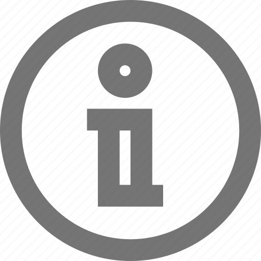 circle, information, material, outline icon