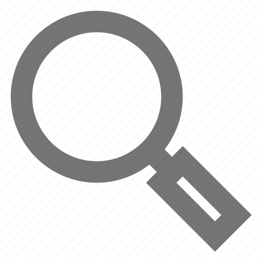 browse, magnifier, material, outline, research, search icon