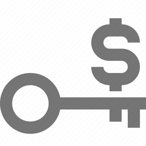 account, business, key, material, money, success icon