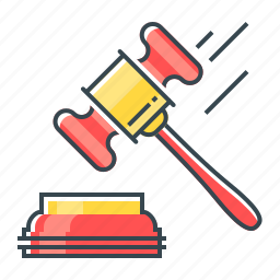 auction, hammer, judicature, law, tool icon