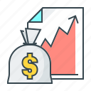 business, cash, finance, graph, growth, success icon