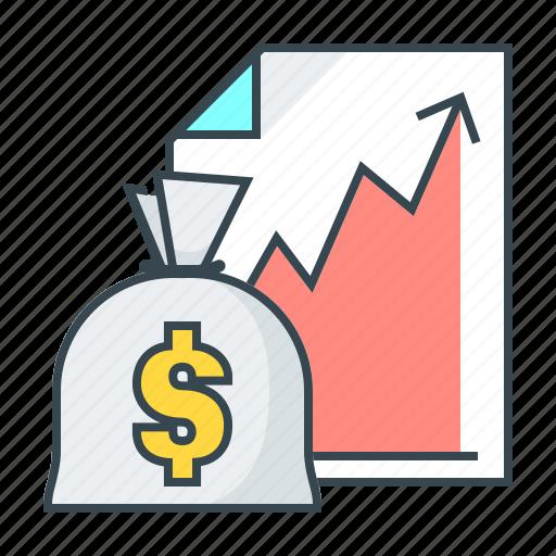 business, cash, finance, graph, growth, success icon