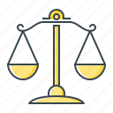 balance, court, law, law scales, libra, scales icon