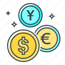 cent, coins, euro, finance, money, money market, yuan icon